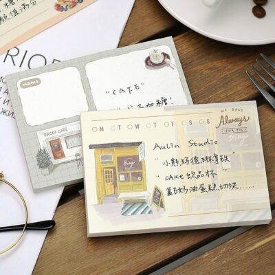 Pretty Cafes Note Pad
